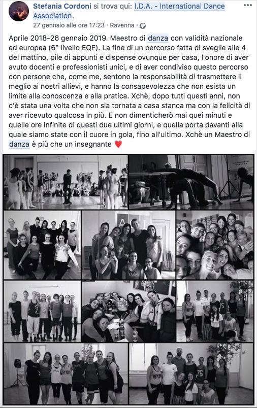 post2 fb Maestro di danza Ravenna